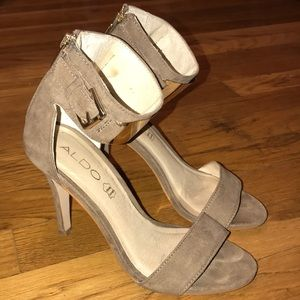 Aldo Heels with Gold Metal Ankle Strap